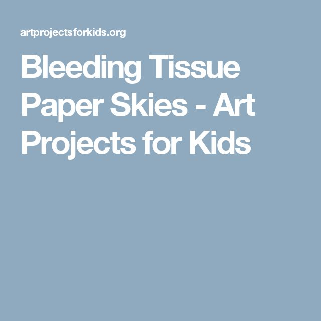 Bleeding Tissue Paper Skies - Art Projects for Kids