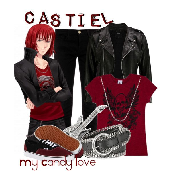 """Castiel, from My Candy Love"" by blackrabbitmegapig on Polyvore"