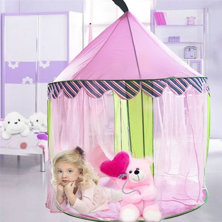 Pink Princess Girls Tent Outdoor Indoor Games Play Tents For Kids Castle Mosquito-Net Christmas Gift Teepee Barraca Infantil