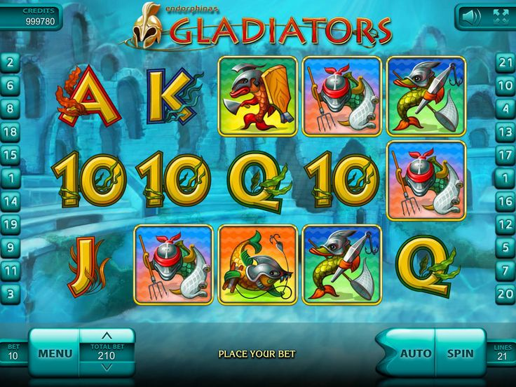 Gladiators - http://freeslots77.com/gladiators-2/ - You must have heard stories of the roman gladiators, but have you ever imagined about under-sea gladiators? Endorphina has designed free Gladiator online slot that will take you deep under the ocean where some sea creatures posing as gladiators will welcome you in the battle. The five-reel and...