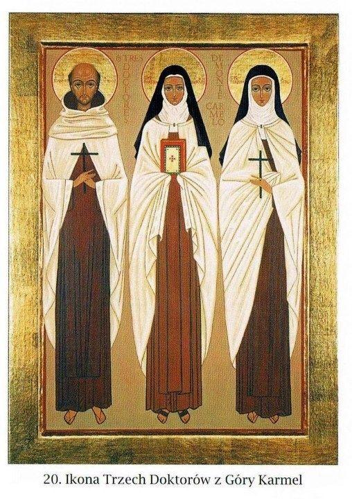 Saints John of the Cross, Therese of Lisieux and Teresa of Avila