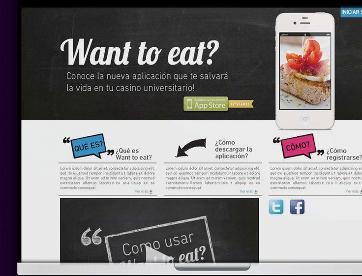 diseño aplicación Want to eat?