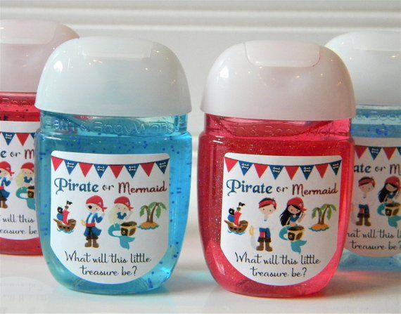 Gender Reveal Favors Personalized Pirate Or Mermaid Baby Shower