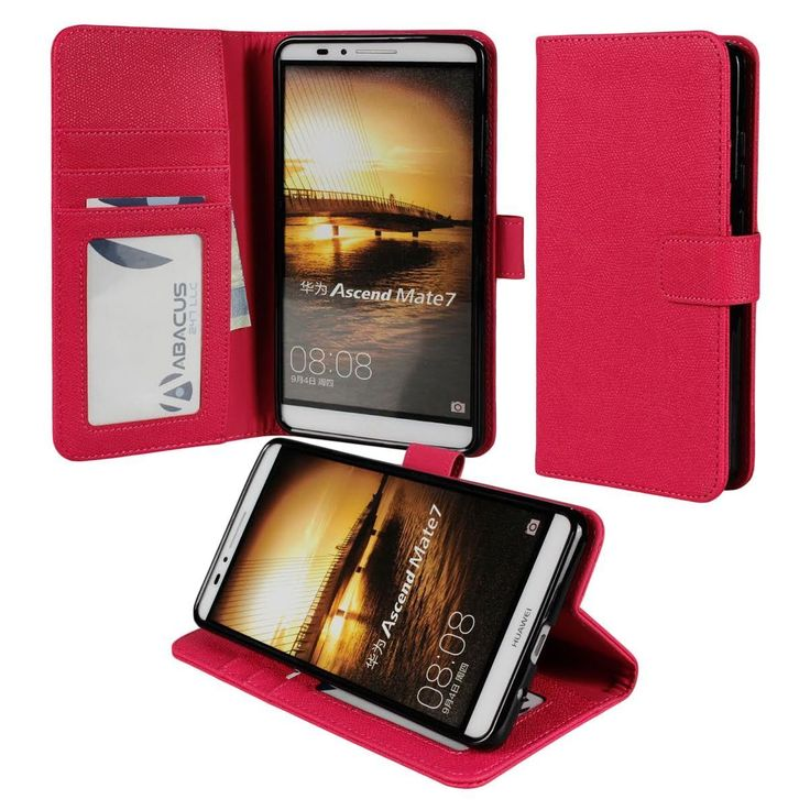 for Huawei Ascend Mate 7 PREMIUM PU Leather Wallet Case Flip Hard Cover Stand | eBay