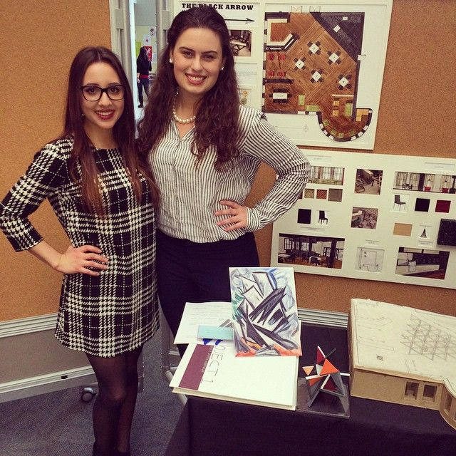Final critique today!  wish us luck! #interiordesign #caféproject