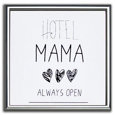 Affiche encadrée Mama noire et blanche 30x30cm