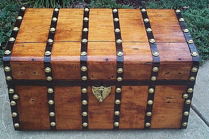 Wood Trunks And Chests ~ Best steamer trunk antique wood images on