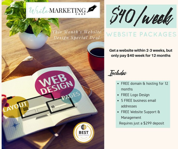Brisbane Website Design Agency offering affordable website design to new businesses needing an online presence. At Write Marketing Corp, we now offer $40/week websites. Contact Us for more information on 07 3158 8621