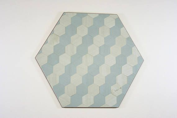 4 Placemats Duck Egg Blue Hexagon  £32 heat resistant to 140 degrees melamine