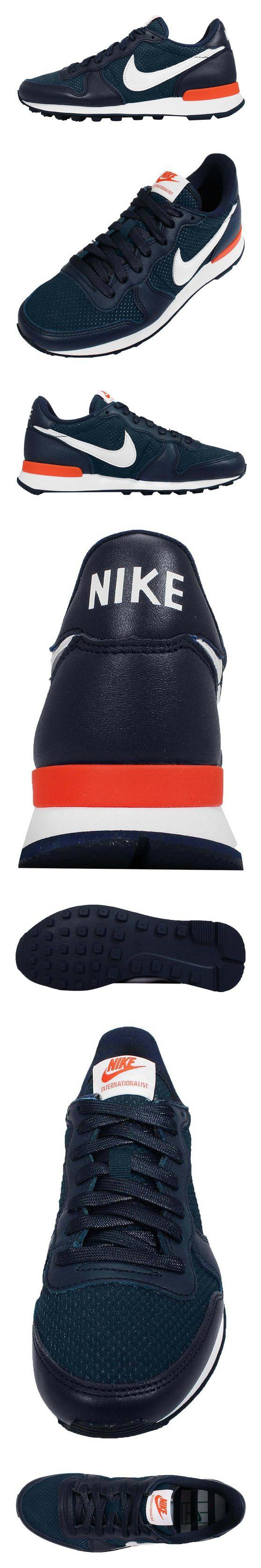 $129.9 - Nike Women's Wmns Internationalist FO QS   FRENCH OPEN-MIDNIGHT NAVY/WHITE-TEAM ORANGE #shoes #nike #2015