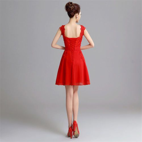 In-Stock-Mini-Chiffon-Cocktail-Party-Dress-Bridesmaid-Prom-Ball-Gowns-S-M-L-XL