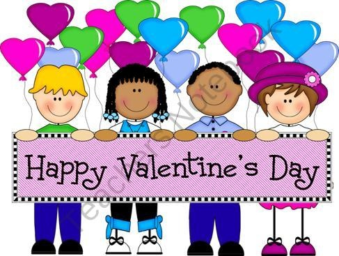 FREE Kids with Heart Holding Valentine's Day Banner ...