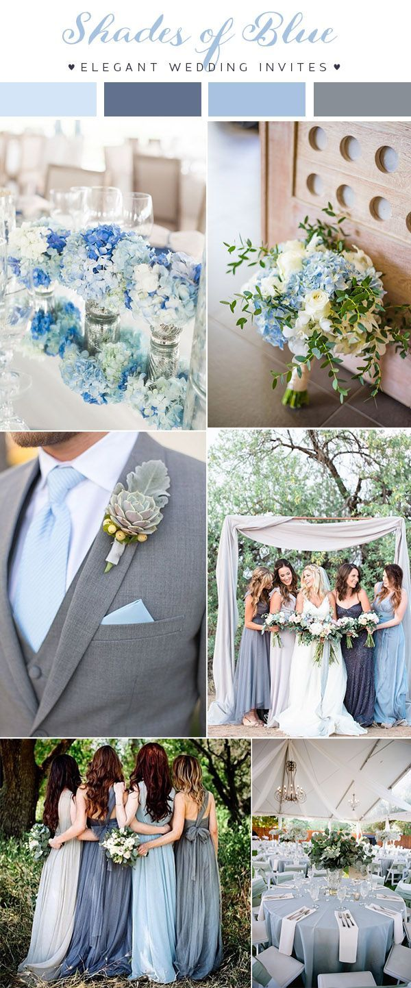 Wedding decorations on the beach october 2018  Prettiest Blue Wedding Color Combos for   Beach wedding