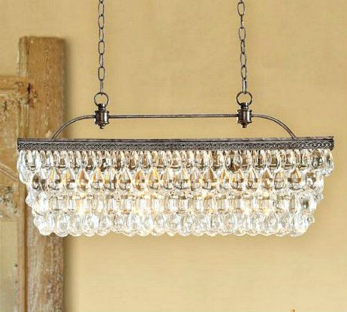 Pottery Barn Chandelier, want this for over the island eating area