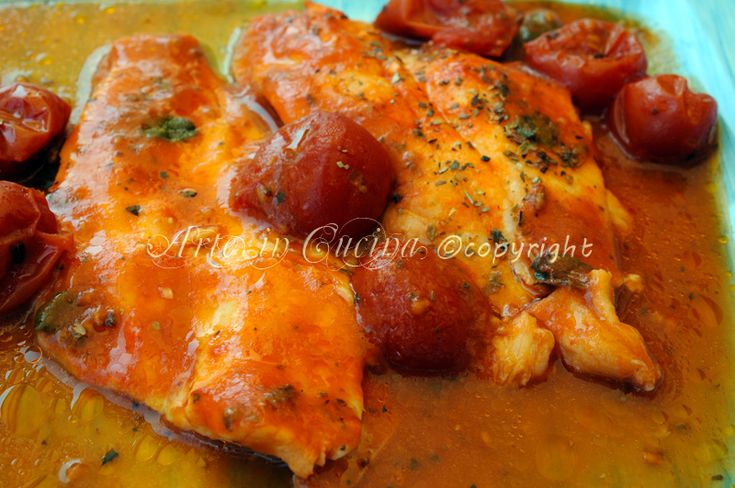 Filetti di platessa al pomodoro ricetta leggera