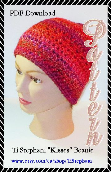 Ti Stephani Kisses Beanie Crochet Pattern Instant by TiStephani