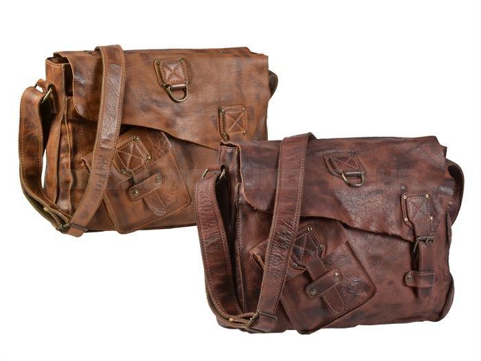 Billy The Kid PANAMERICA - Leder Schultertasche Umhängetasche Shoulderbag M - 2 Farben