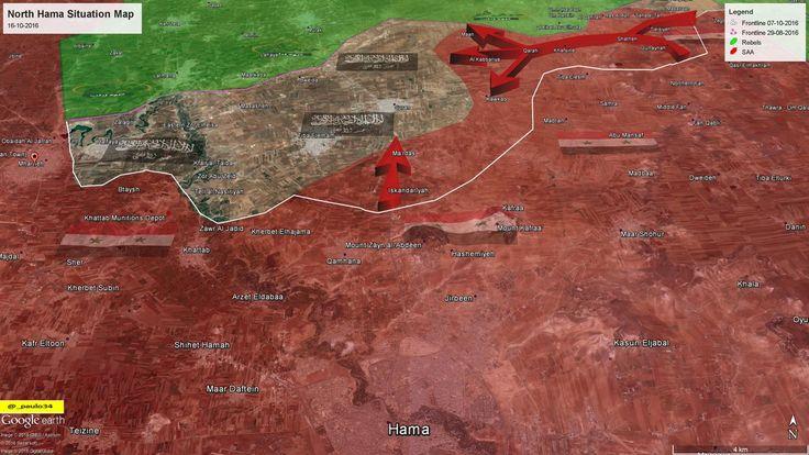 North Hama Situation Map 16-10-2016 SAA vs Rebels #Hama #Syria