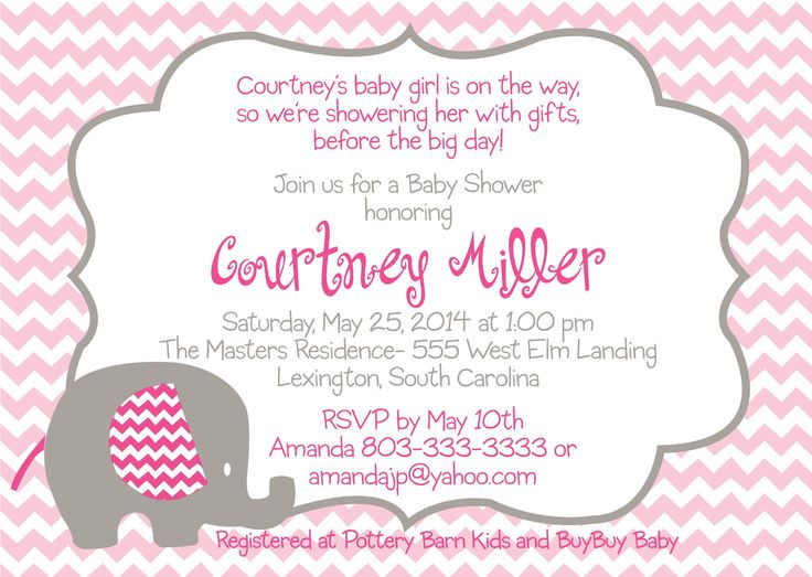 34 best baby shower invitations images on Pinterest Baby girl - free templates baby shower invitations