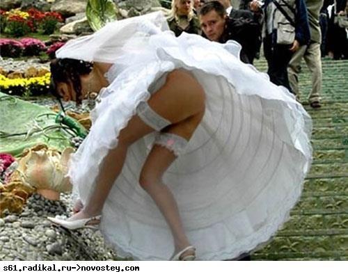 Без трусов в свадебных платьях фото 696-650