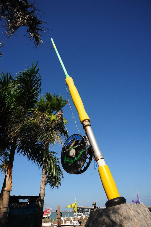 We found the world 39 s largest fishing pole in port isabel for Port isabel fishing