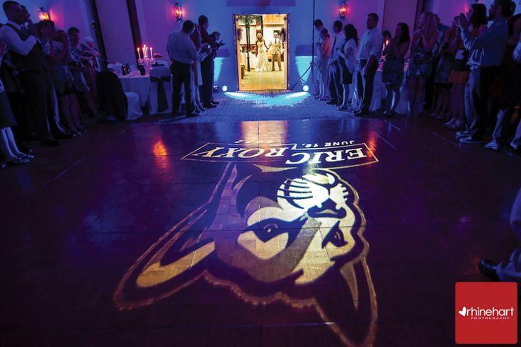 This dance floor lighting! Roxy & Eric's Penn State wedding. Rhinehart Photography.