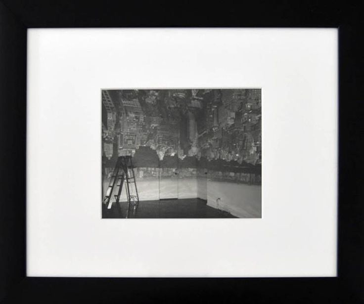 Camera Obscura Image of Manhattan View Looking in Empty Room | From a unique collection of black and white photography at https://www.1stdibs.com/art/photography/black-white-photography/