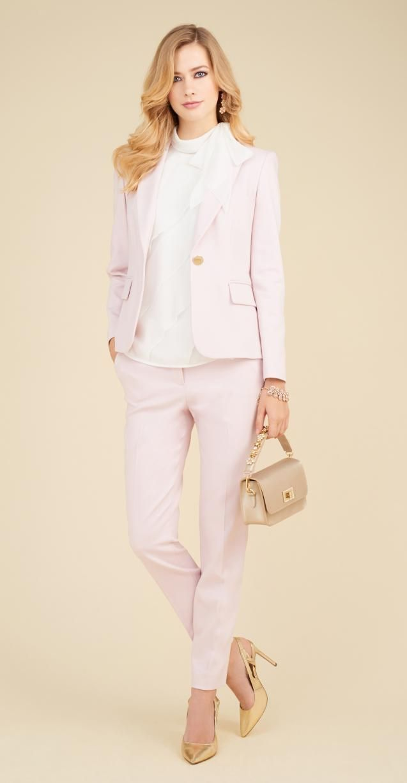 first rate 8f739 2f4c9 Tailleur da cerimonia rosa cipria Luisa Spagnoli | abiti da ...