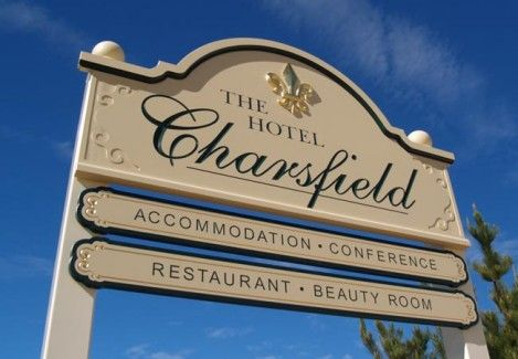 The Hotel Charsfield Motel Sign