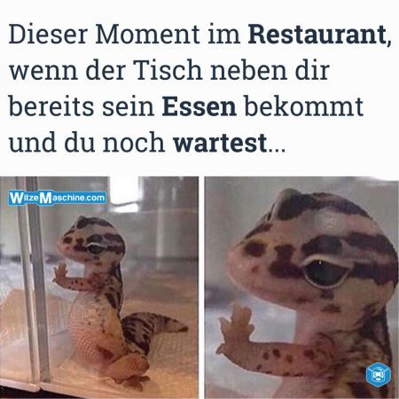 Dieser Moment wenn Witze - Im Restaurant aufs Essen warten - Kellner Witze