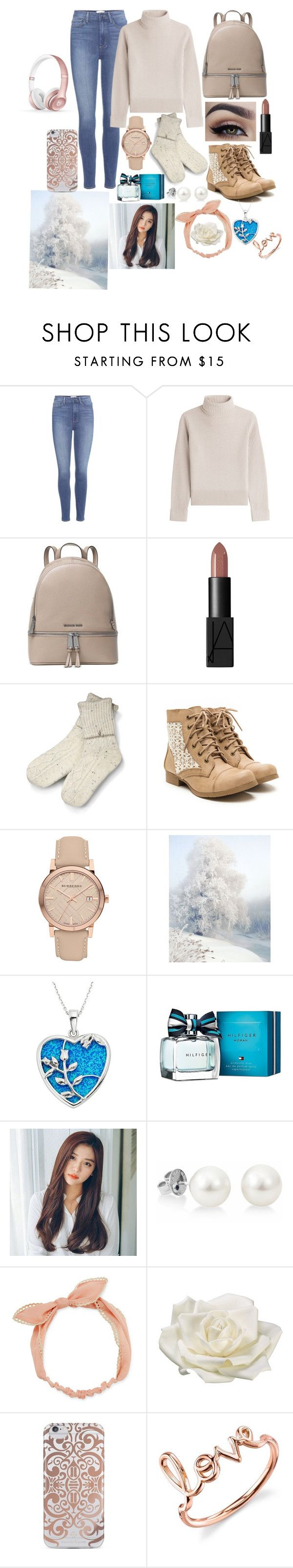 """Ready for Christmas"" by karressguidycapers ❤ liked on Polyvore featuring Paige Denim, Vanessa Seward, MICHAEL Michael Kors, NARS Cosmetics, UGG, Burberry, Disney, Tommy Hilfiger, Arizona and Allstate Floral"