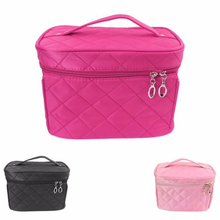Kosmetische box 2016 neue weibliche Gesteppte professionelle kosmetiktasche frauen große kapazität lagerung handtasche reisen kulturverfassungsbeutel