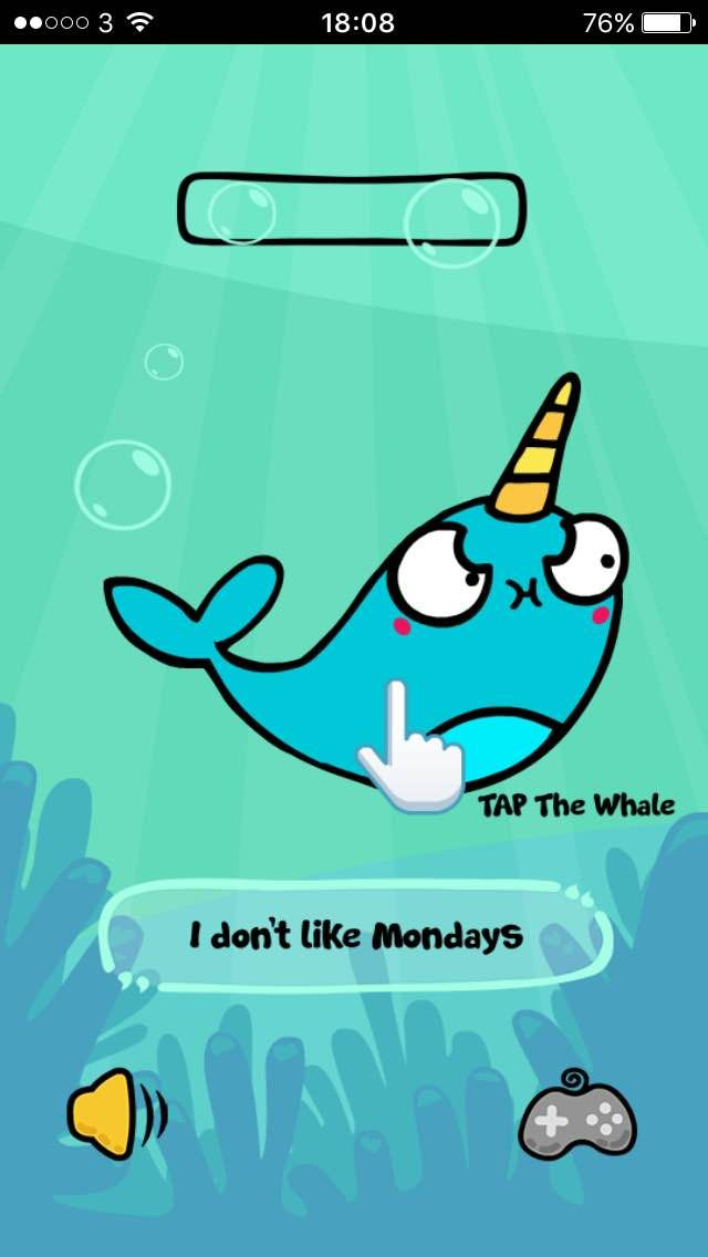 Our narwhal doesn't like Mondays! Give him a tickle to cheer him up at www.flossyandjim.com (under fun stuff) How is your Monday going? #narwhal #awesome #game #monday #fun
