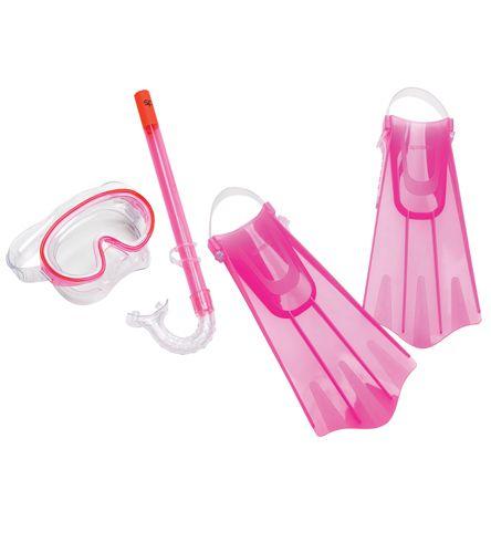 Speedo Kids Mask, Snorkel, and Fin Snorkeling Set
