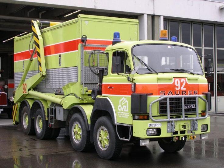 Saurer D330b Flughafen Trucks Semis Doubles Old New