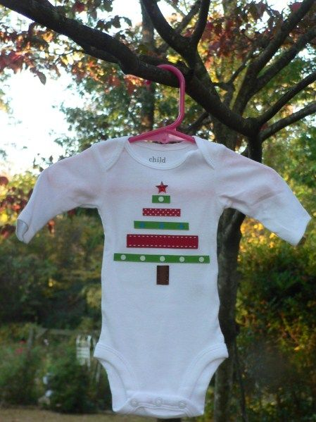 Christmas Onesie that would be easy to make and cute with a onesie!