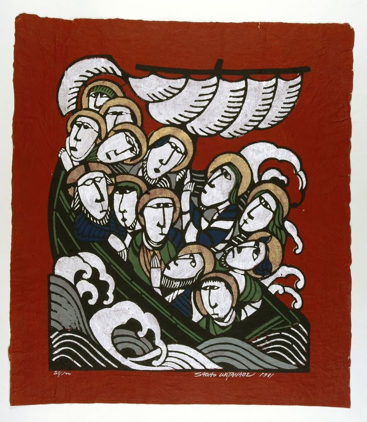 Sadao Watanabe-- Christ in Boat with Disciples