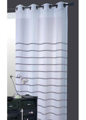 17 meilleures id es propos de voilage gris sur pinterest voilage blanc rideau blanc et for Rideaux gris et blanc en lin