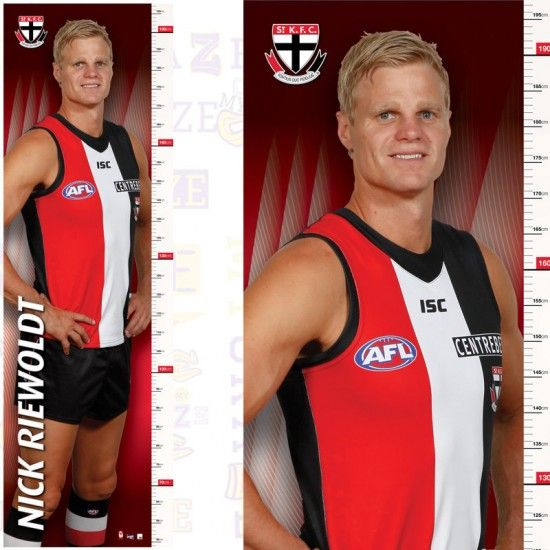 OFFICIAL AFL KILDA SAINTS – NICK RIEWOLDT GROWTH CHART POSTER