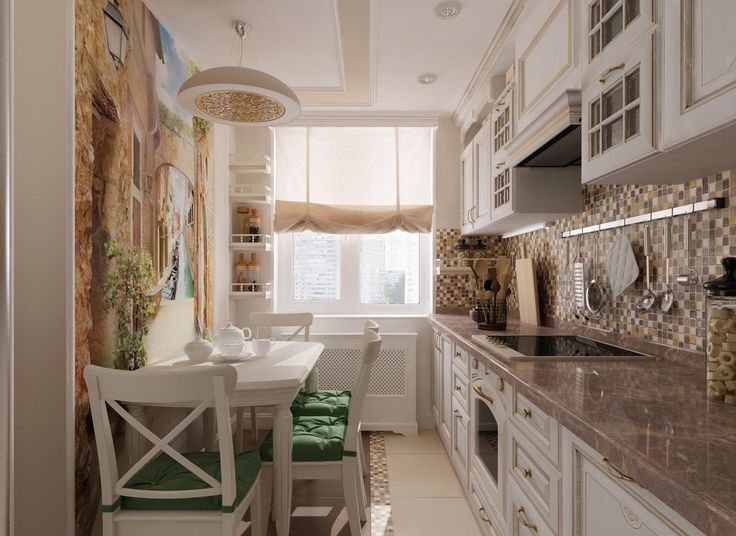 Panellakás konyha ötlet - meleg színárnyalatok, mediterrán stílus