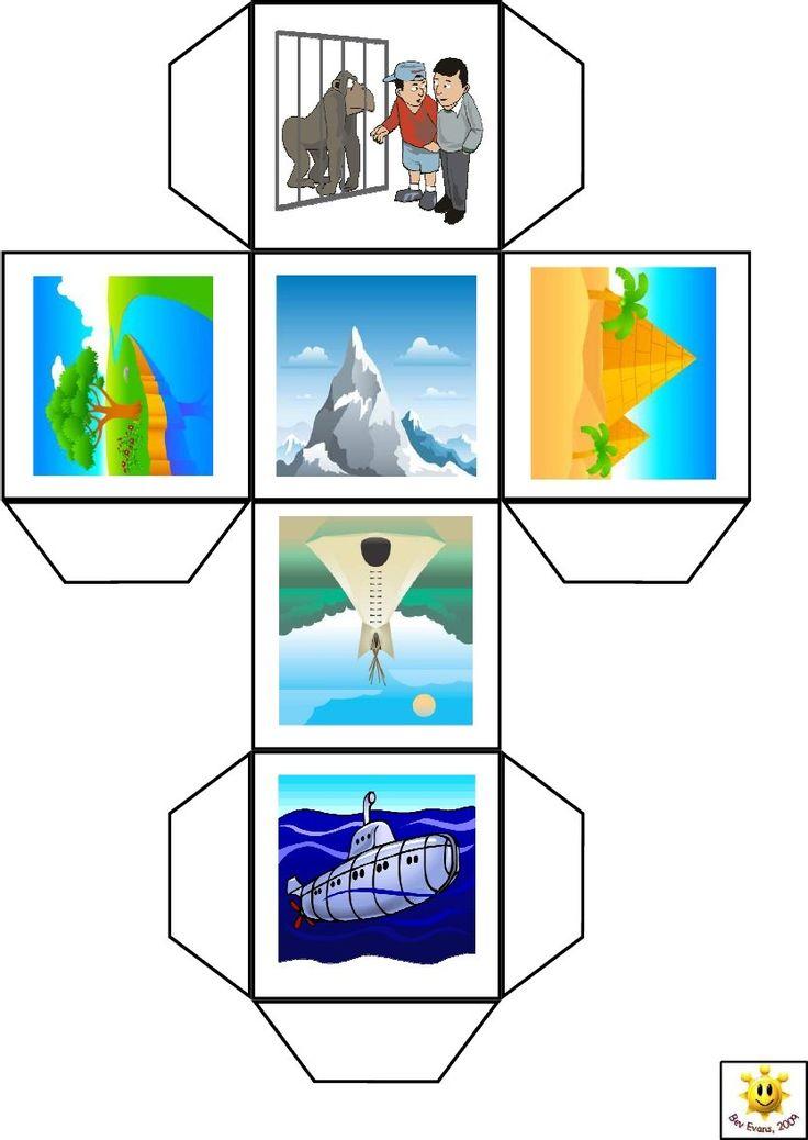 Бумажные кубики с картинками