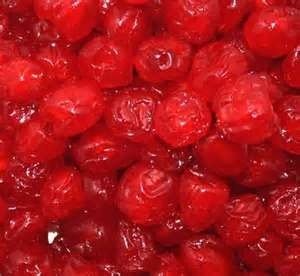 Candied or Glace cherry in Cherry Vanilla.