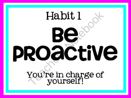 Habit 1 Be Proactive Based On The Work Of Stephen: 1000+ Images About Special Education On Pinterest