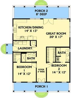 Plan W2568DH: Wouldn't need 6 ft wide hallway and totally flip from front to back. I like kitchen, dining and living room in front of a house or all on one side.