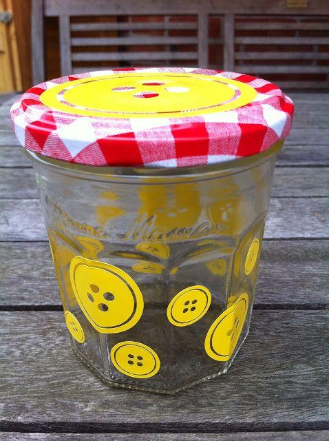 Aufgehübschtes Marmeladenglas / Pimp my jam jar