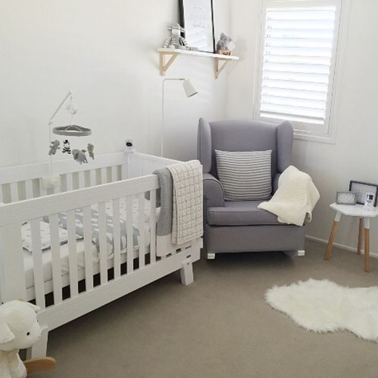 Looking for some stylish nursery inspiration? ☁️  We're loving this grey + white combo of Boori Urbane Lucia Cot + Hobbe Georgetown Rocker! _ #nursery #nurserystyle #nurseryinspo #babynursery #babycot #cot #boori #booricollections #hobbe #rockingchair #nursingchair #baby #babystyle #babylife #babyshop #babyvillagestore #repost 📷 @mrsannatu | @booricollections | @hobbeaustralia