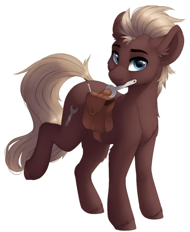 e621 alpha_channel blue_eyes brown_fur cutie_mark eyebrows fan_character feral fur hooves looking_at_viewer my_little_pony silentwulv simple_background solo tan_hair transparent_background