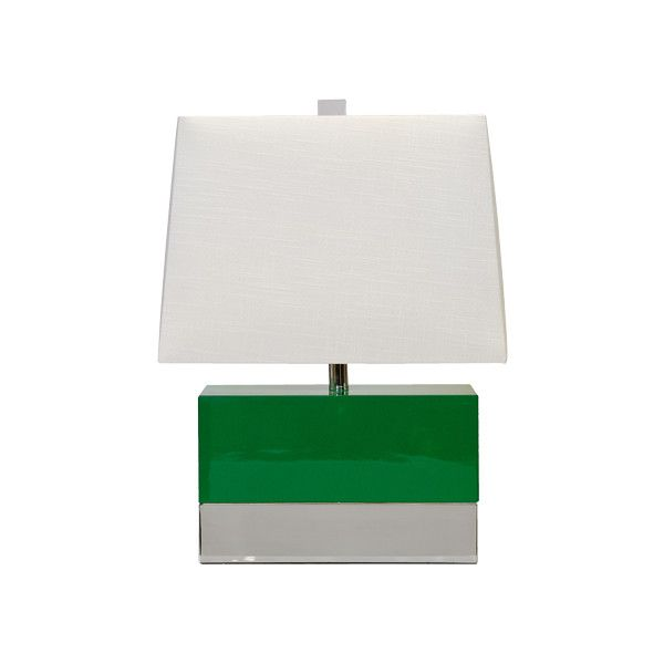 worlds away green lacquer rectangular table lamp w nickel basewith rectangular lamp shadesgreen lightstable - Lamp Shades For Table Lamps