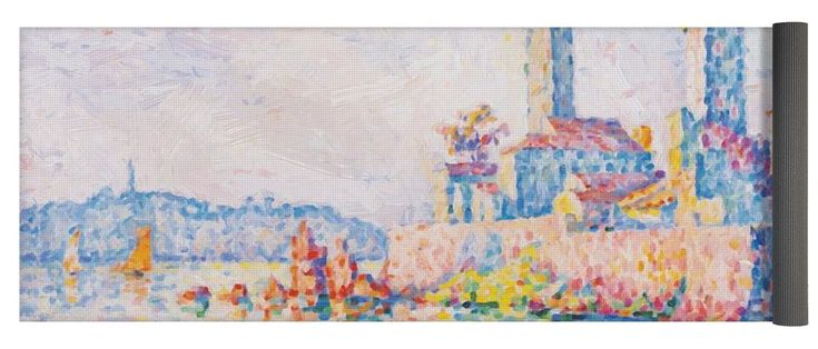Antibes Yoga Mat featuring the painting Antibes The Towers 1911 by Signac Paul