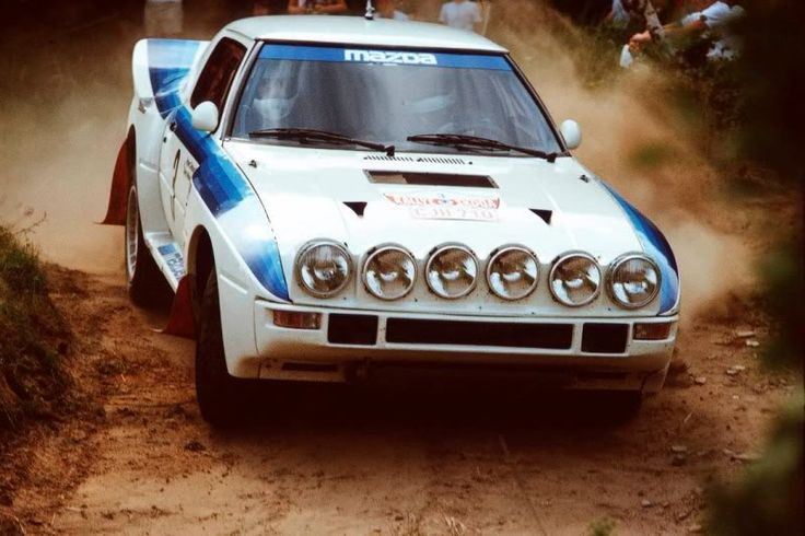 Mazda RX7 rally car